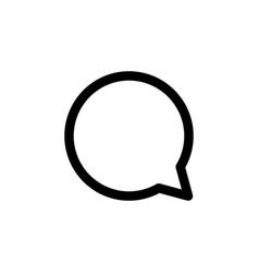 Speech bubble black line icon popular media vector
