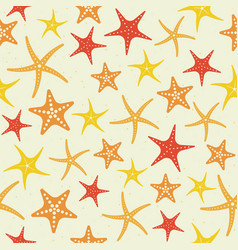 starfish seamless pattern summer sea life theme vector image