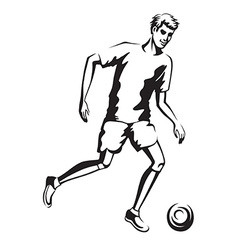 The athlete playing football vector image