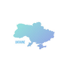 ukraine country map made from abstract halftone vector image