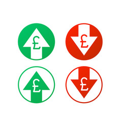 up and down arrows with pound sign in flat icon vector image
