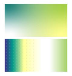 visiting card yellow green vector image
