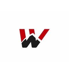 W logo icons vector