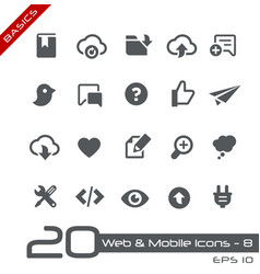 web and mobile icons-8 - basics vector image