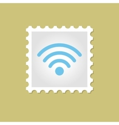 Wi-Fi stamp vector