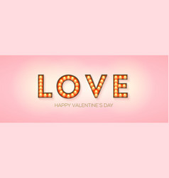 word love on pink background creative design vector image