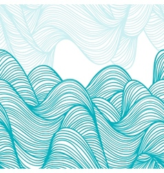 Abstract hand-drawn waves background vector