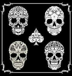 Bundle Skull Ornamental vector image vector image