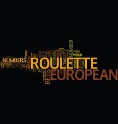 european text background word cloud concept vector image vector image