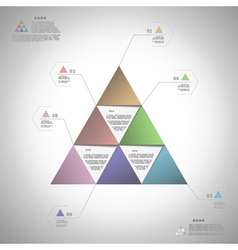 Infogrphic triangle for data presentation vector image