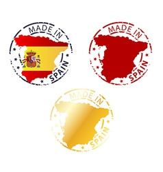 made in Spain stamp vector image vector image