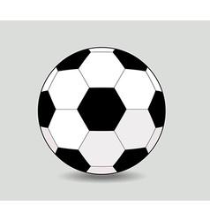 soccer ball on white background eps10 vector image vector image