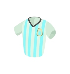 Argentina soccer jersey icon cartoon style vector image