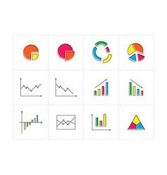 Diagrams vector image vector image