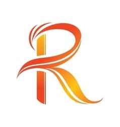 Letter R logo design template vector image vector image