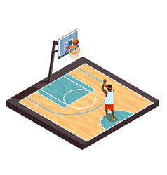 pickup ball isometric composition vector image vector image