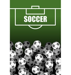Soccer field and Ball Lot of balls football vector image vector image