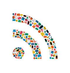 social media network wifi signal icon concept vector image vector image