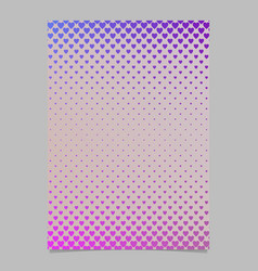 gradient heart pattern page template - brochure vector image vector image