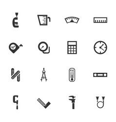 measuring tools icons set vector image