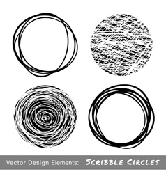 Set of Hand Drawn Scribble Circles vector image vector image