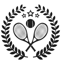 Set Of Tennis Badge Logo Templates T-Shirt Graphi vector image vector image