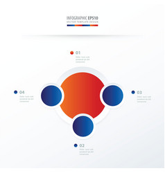 Circle overlap design blue red color vector