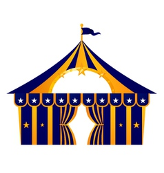 Circus blue tent vector image vector image