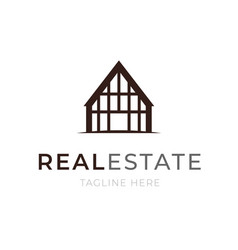 logo template real estate concept apartment or vector image vector image