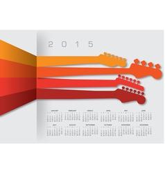 2015 cal Guitar Headstocks vector image