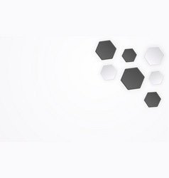 abstract polygon like 3d football pattern vector image