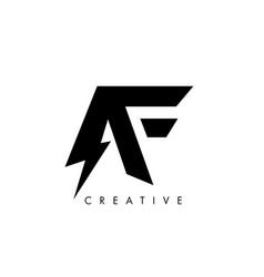 Af letter logo design with lighting thunder bolt vector