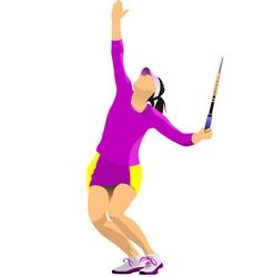 Al 0724 woman tennis 01 vector