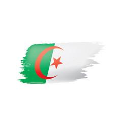 algeria flag on a white vector image