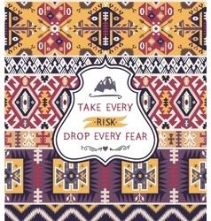 Aztec decorative seamless pattern vector