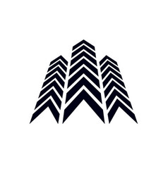 Boost up arrow graphic design element corporate vector