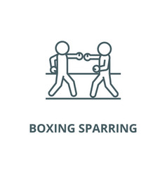 boxing sparring line icon boxing sparring vector image