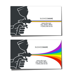 business card for spray painting vector image