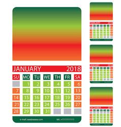 Calendar griddecember january february vector