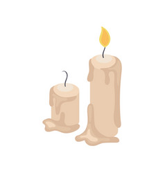 Candles isometric vector