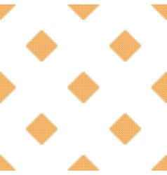 Checkered tablecloths pattern - endless - yellow vector