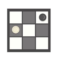 Checkers game icon cartoon vector