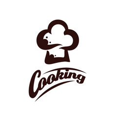 chef logo design cooking logo template bakery vector image