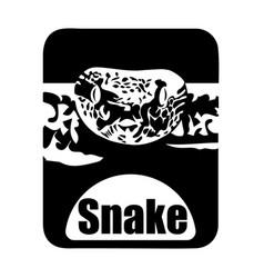 chinese calendar animal monochrome logotype snake vector image