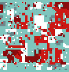 christmas pixel pattern vector image