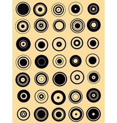 circle elements vector image