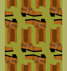 Cowboy boots pattern australian shoes background vector