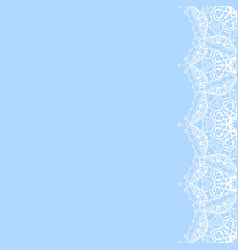 decorative frame from white snowflakes vector image