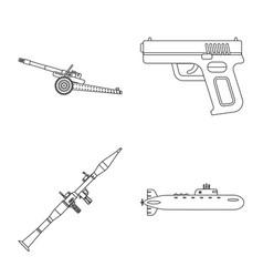Design weapon and gun symbol collection vector