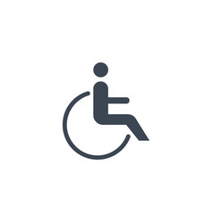 Disabled related glyph icon vector